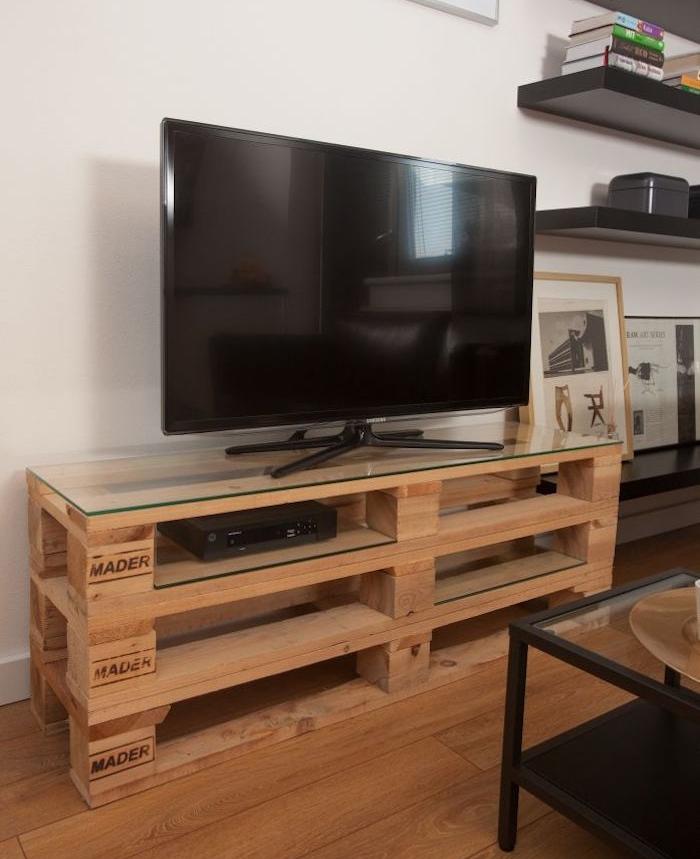 1001 idees meuble tv palette le
