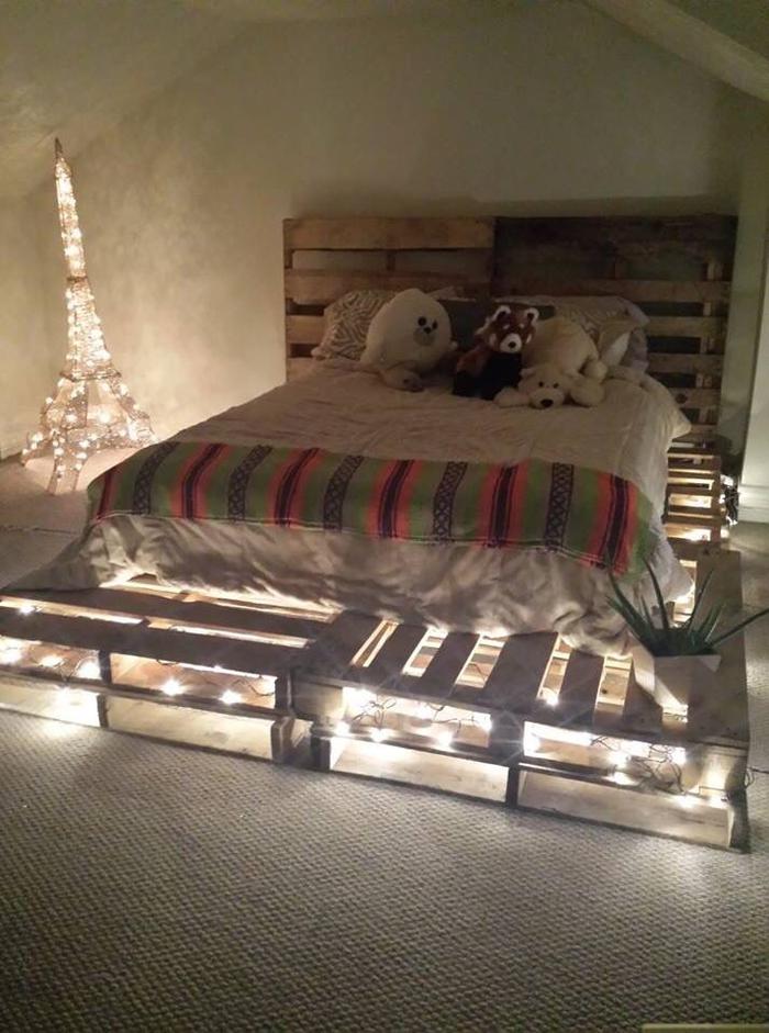 1001 ides comment fabriquer un lit avec des palettes