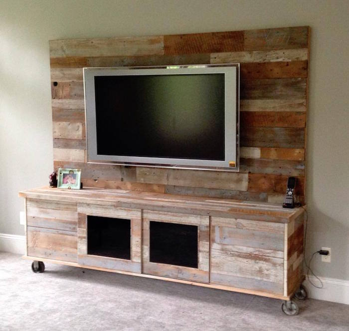 1001 idees meuble tv palette le