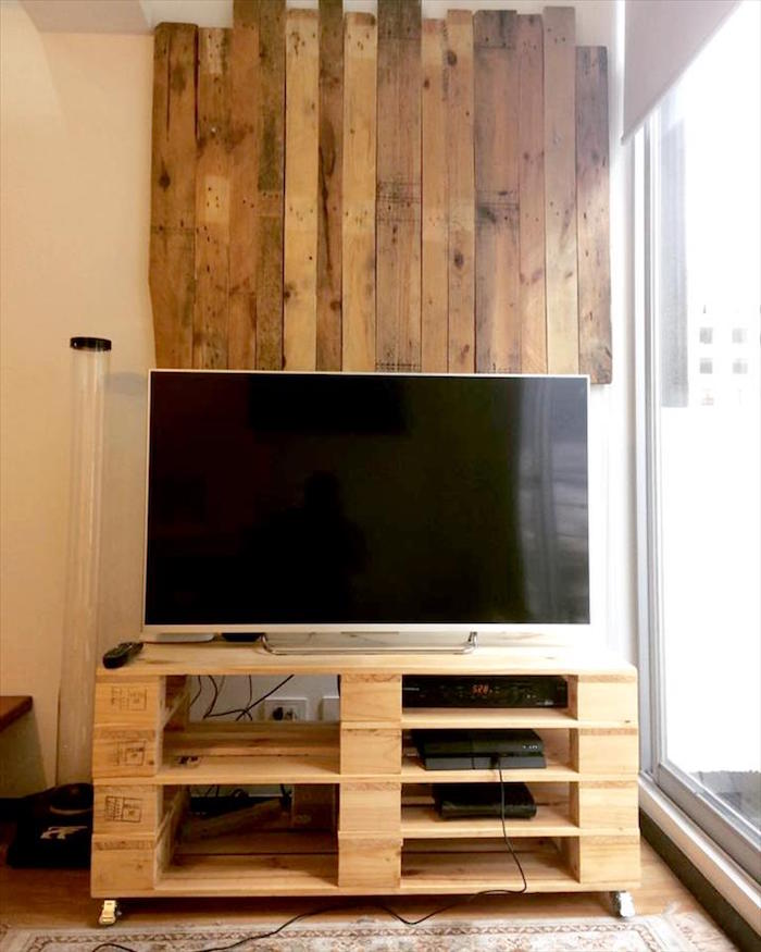 1001 Ides Meuble TV Palette Le Recyclage En Chane