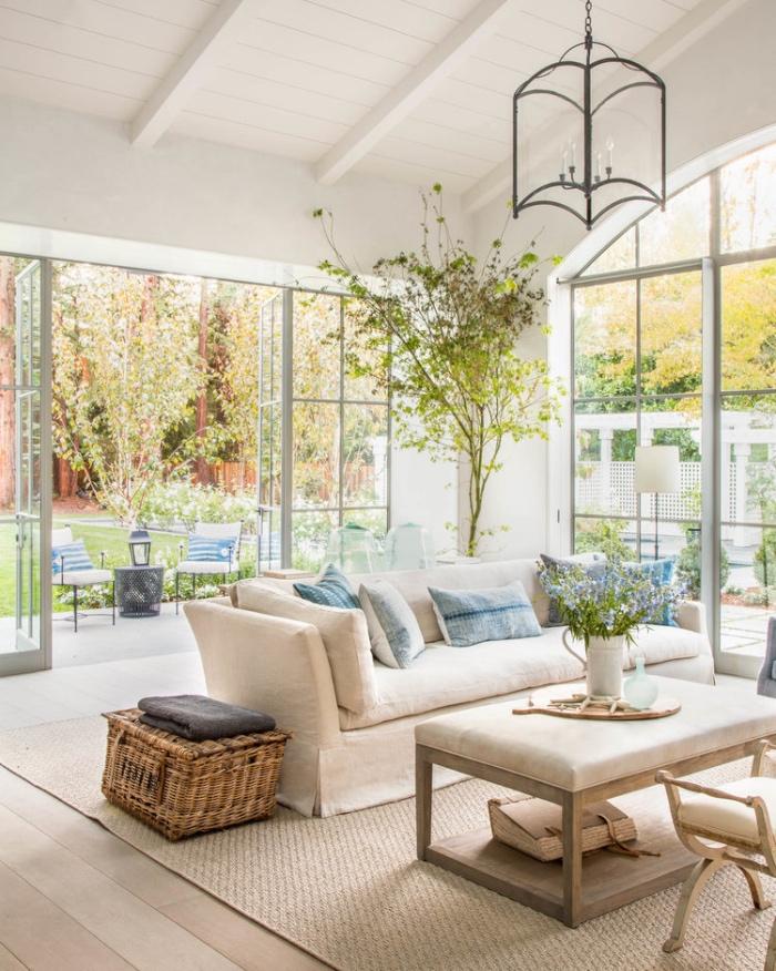 1001  conseils et ides pour amnager un salon blanc et beige