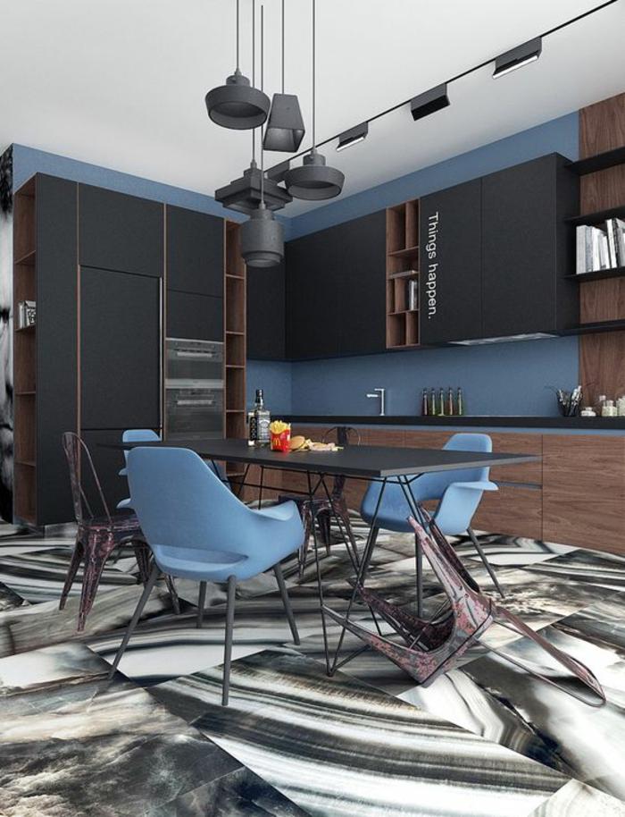 1001 Ides pour une cuisine bleu canard  les intrieurs qui font un grand effet
