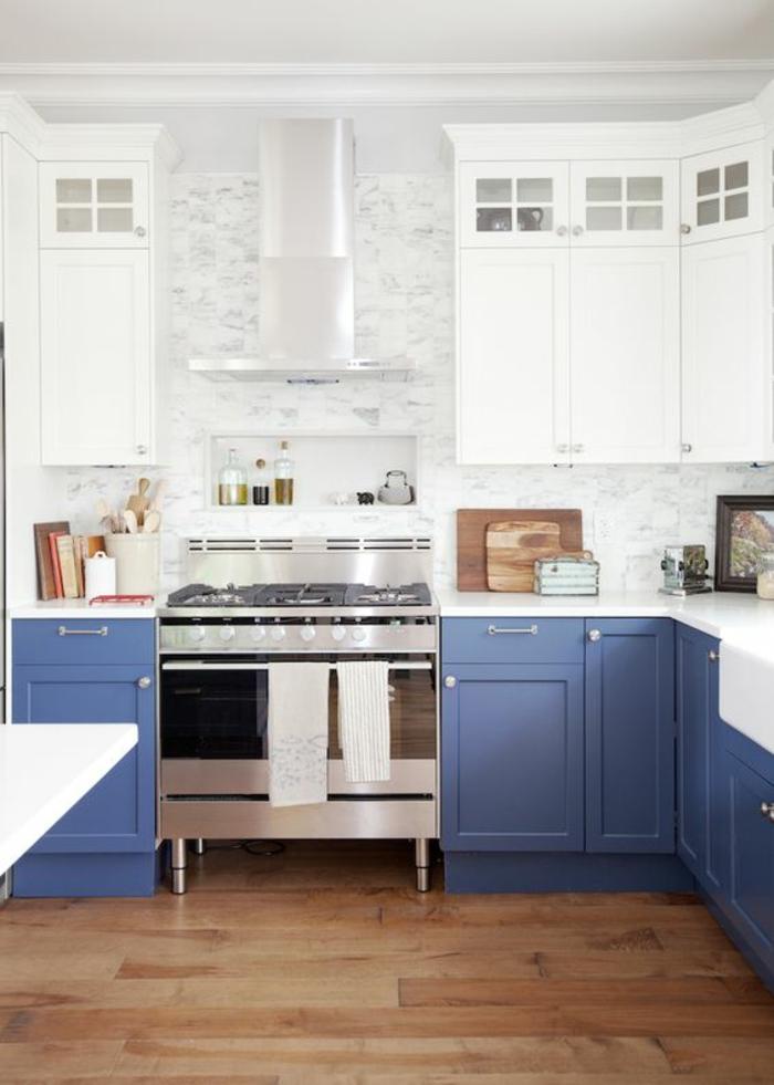 movable islands for kitchen lowes faucets delta 1001+ idées pour une cuisine bleu canard + les intérieurs ...