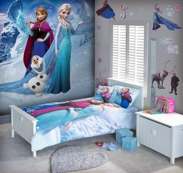 cheap beautiful deco chambre fille stickers autocollant sur les murs motifs elsa anna et olaf