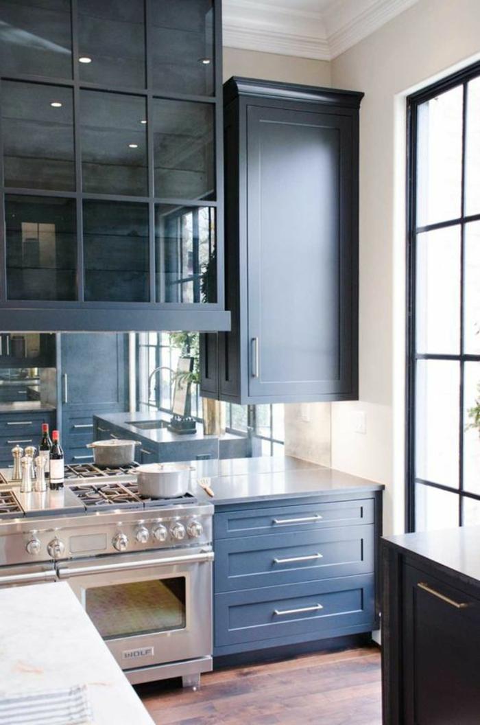 1001 Ides pour une cuisine bleu canard  les intrieurs