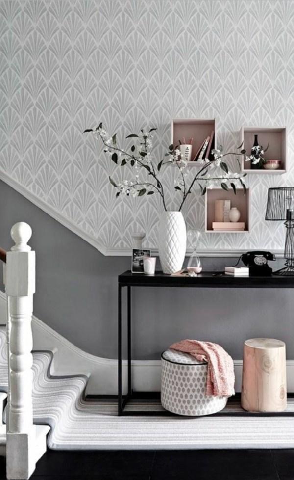 Decoration Couloir Gris Et Blanc