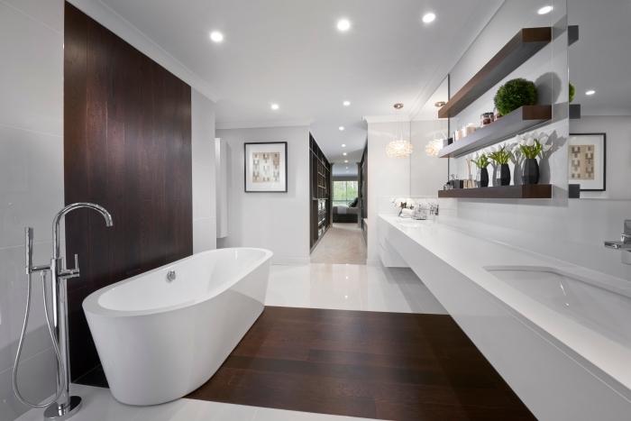 1001 modeles inspirants d une salle de bain avec parquet
