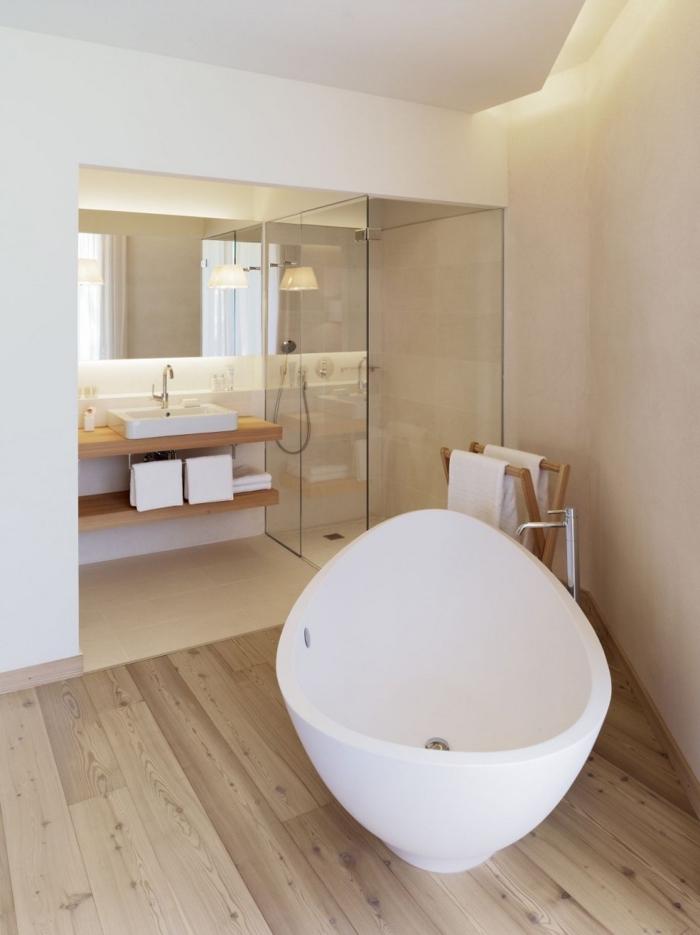 1001  modles inspirants dune salle de bain avec parquet
