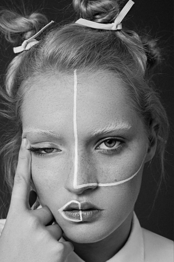 Visage Femme Noir Et Blanc : visage, femme, blanc, Femme, Visage, Smalulasycappe.over-blog.com