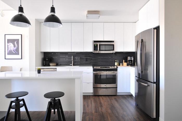 1001  conseils et ides pour amnager une cuisine moderne blanche