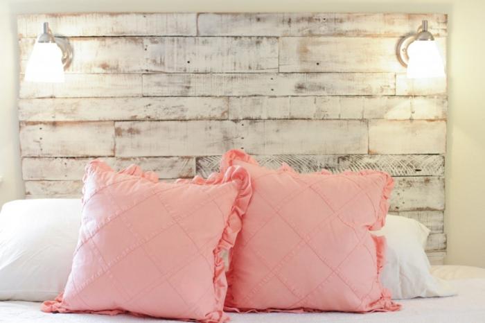 de lit en palette de bois diy