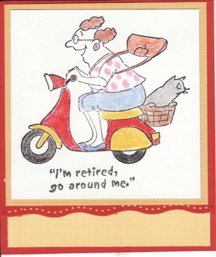 idees pour une carte de retraite