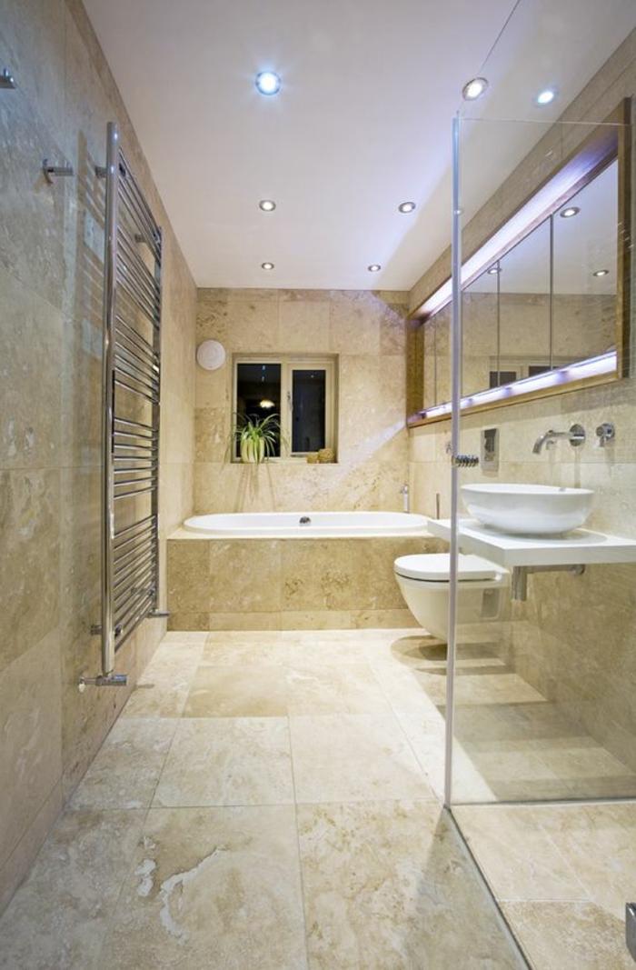 1001  ides dco pour la salle de bain travertin