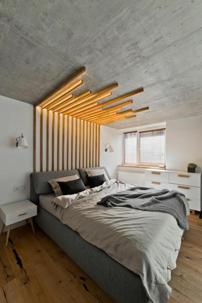 elegant ides pour fabriquer une tte de lit en bois qui votre chambre with idee tete de lit en bois