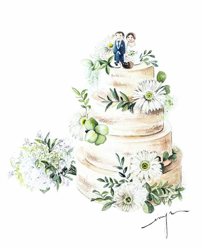 1001  ides de lillustration mariage pour clbrer votre amour