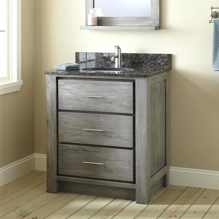 1001  ides  Salle de bain beige et gris  pierre