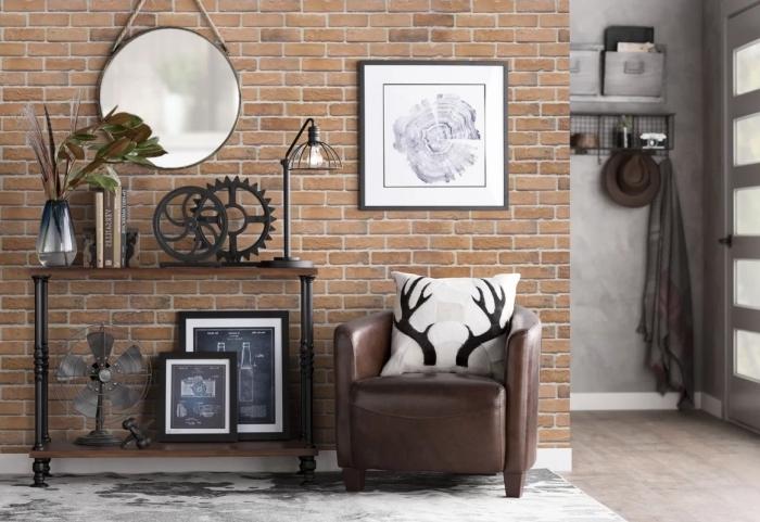 Papier Peint Deco Industriel Gallery Of Idee Deco Salon