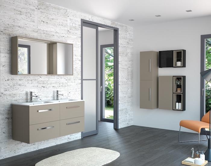 salle de bain beige et blanc. Black Bedroom Furniture Sets. Home Design Ideas