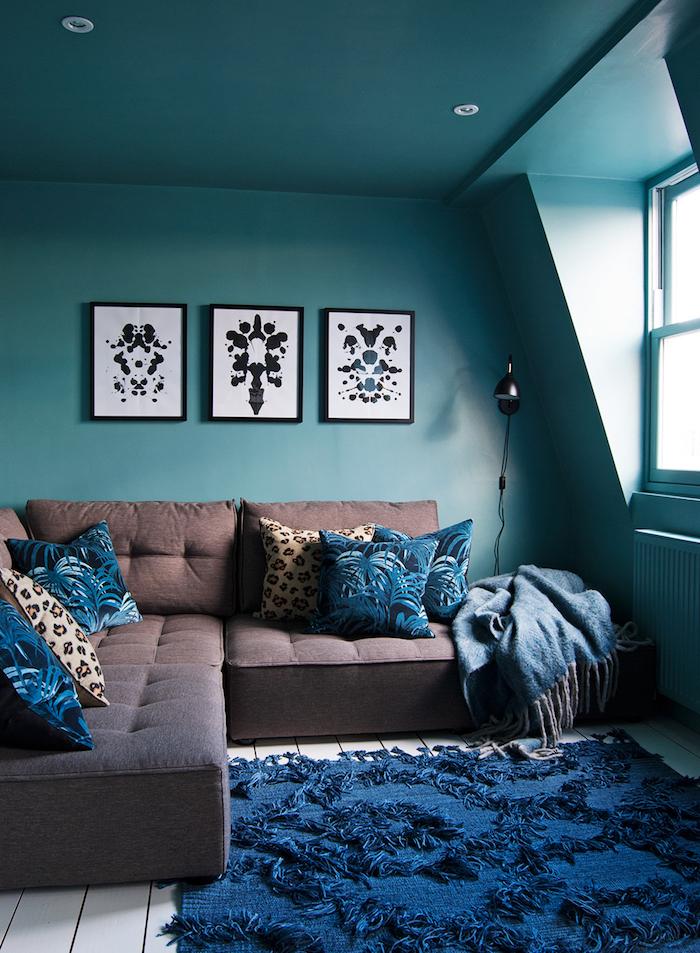 Idees Salon Bleu