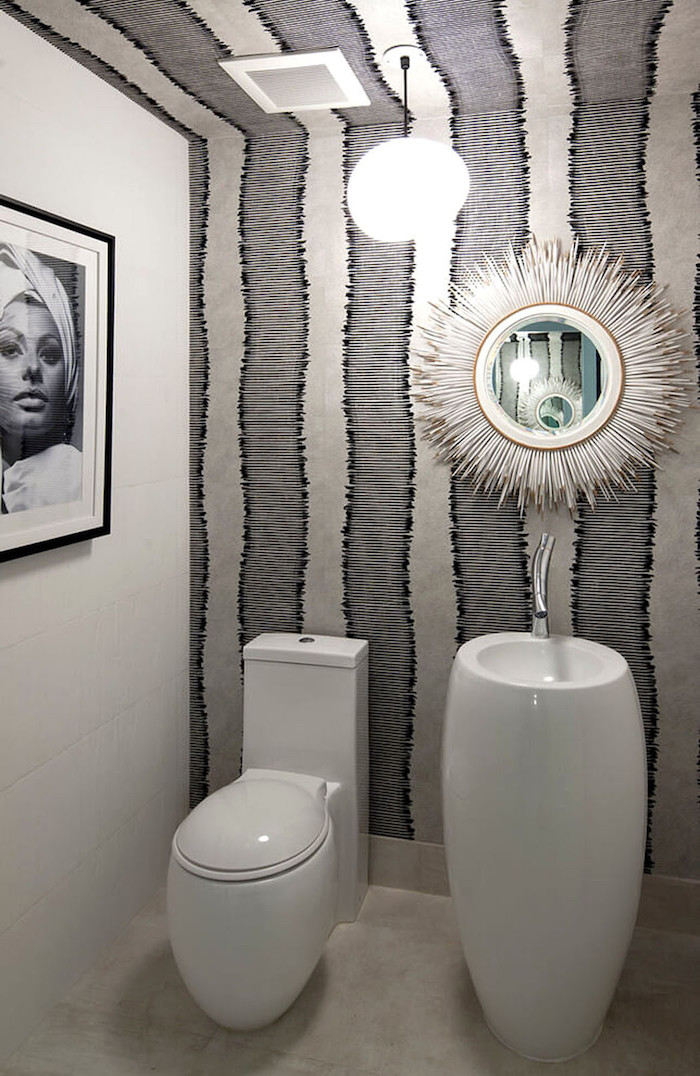 Decoration Toilette Gris