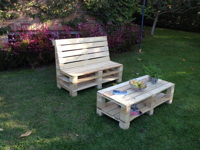 Creer Un Salon De Jardin En Palette | Comment Faire Un Salon ...
