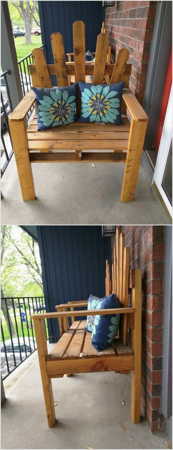 fauteuil palette tuto salon de jardin en palette tuto. Black Bedroom Furniture Sets. Home Design Ideas