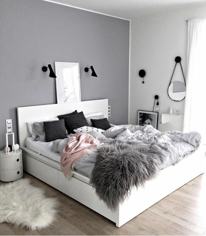 Chambre Gris Et Blanc Ado - Décoration de maison idées de design d ...