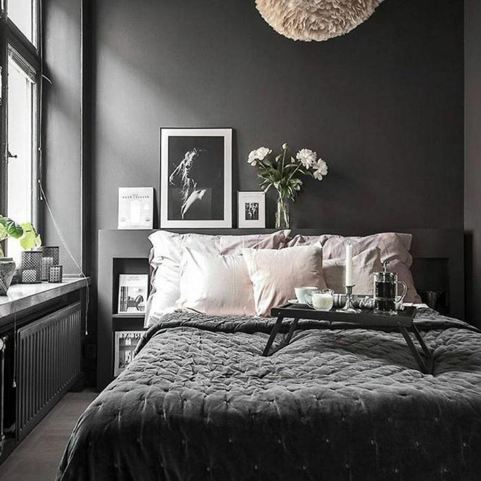 Chambre Noir Blanc Gris