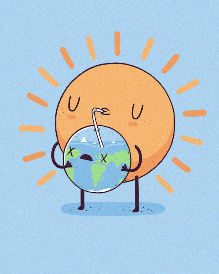 Comment Dessiner La Terre : comment, dessiner, terre, Idées, Créer, Dessin, Mignon