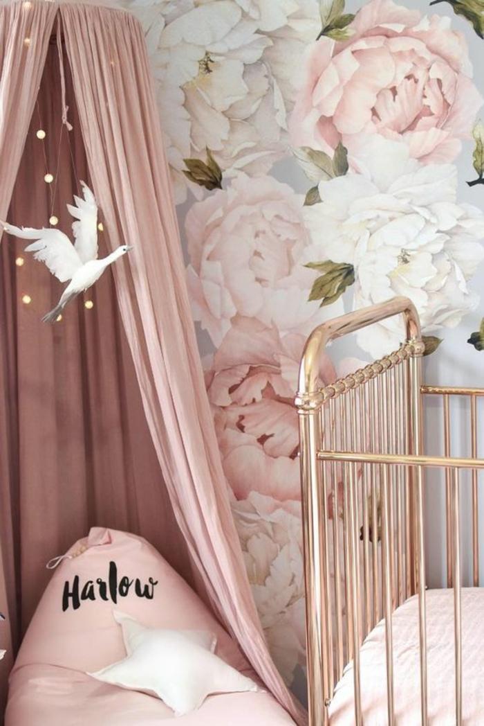 Chambre Bebe Rose Poudre