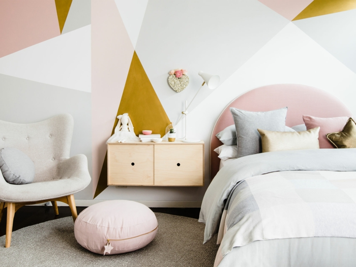 Couleur Beige Rosé Pour Une Chambre