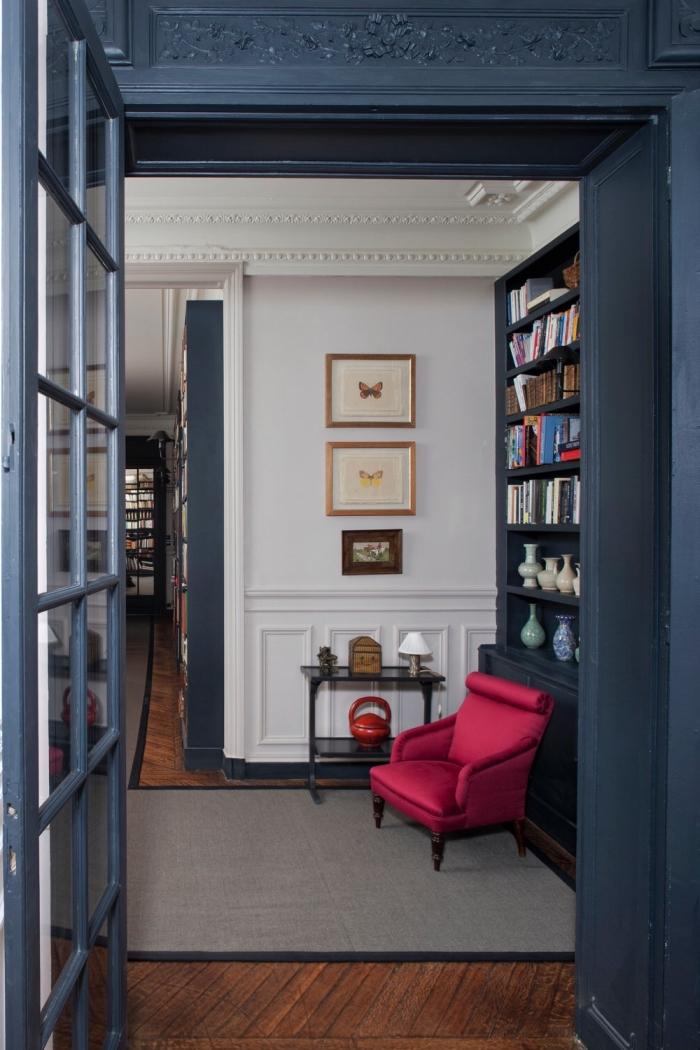 Dco salon bleu pour une ambiance lgante et sereine  OBSiGeN