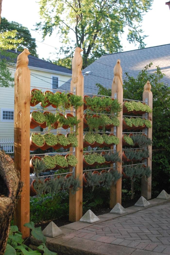 jardin balcon ou terrasse avec un mur