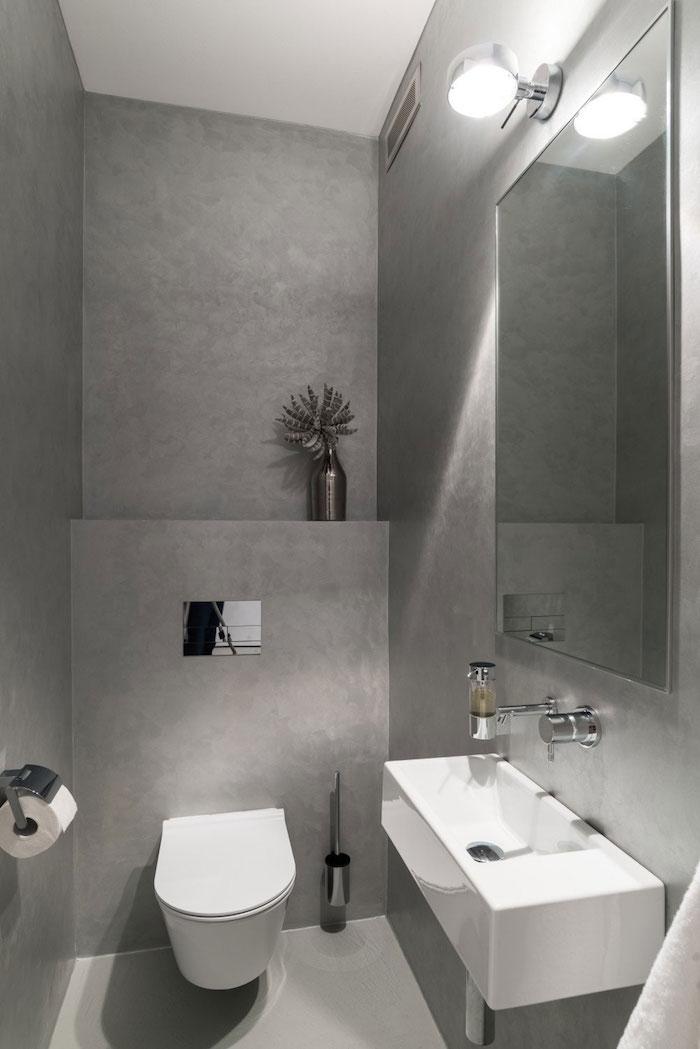 Salle de bain en bton cir  brut de paume  Archzinefr