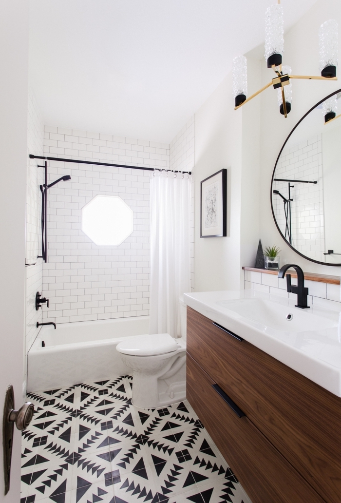 salle de bain en carreaux de ciment