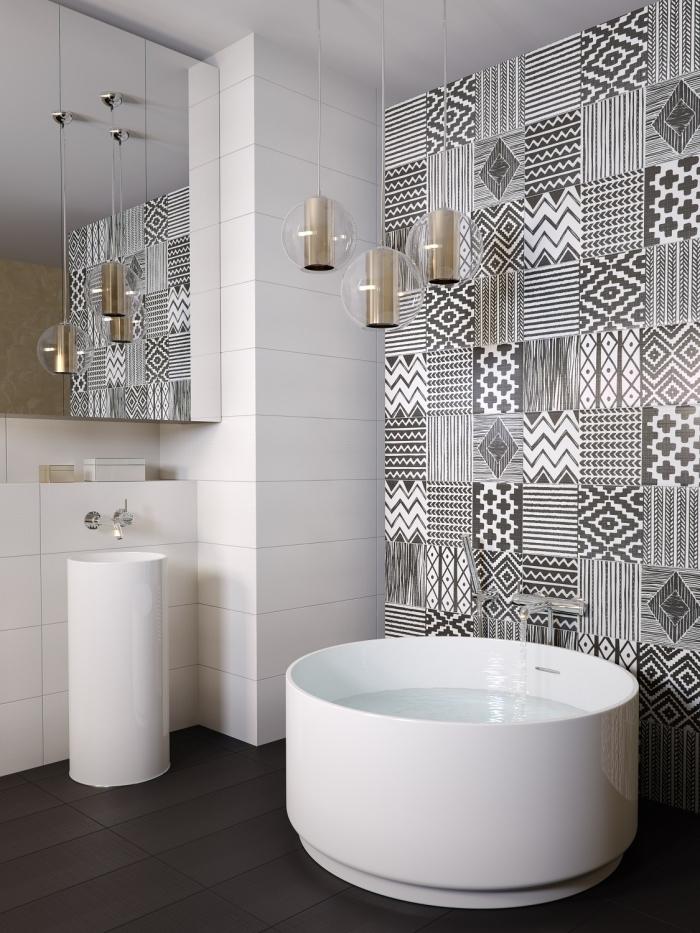 1001 Idees Pour Amenager Une Salle De Bain En Carreaux De Ciment Plein De Charme