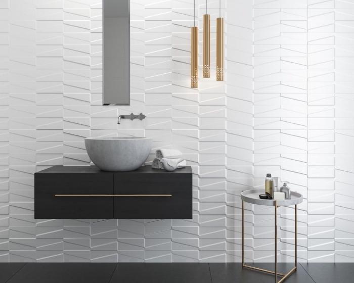salle de bain blanche moderne