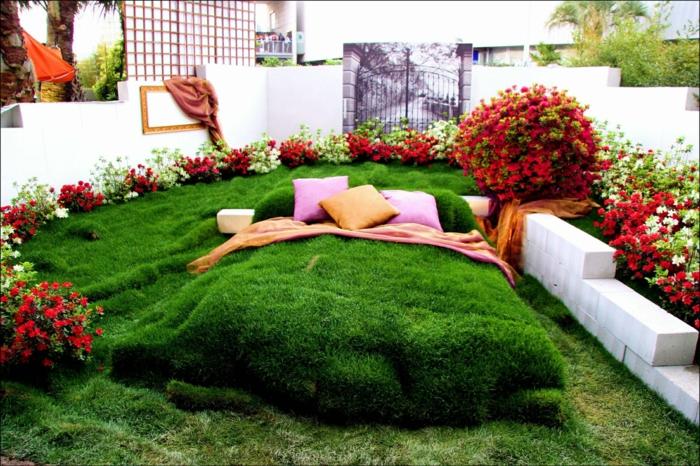 idees de deco jardin avec objets de