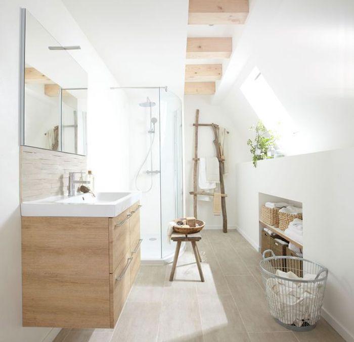 1001 Idees Pour La Salle De Bain En Bois Et Blanc