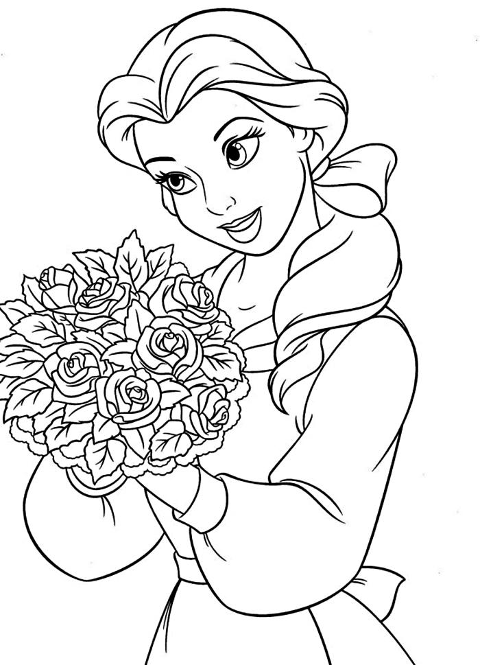dessin à imprimer: Dessin A Imprimer Disney Belle Et La Bete