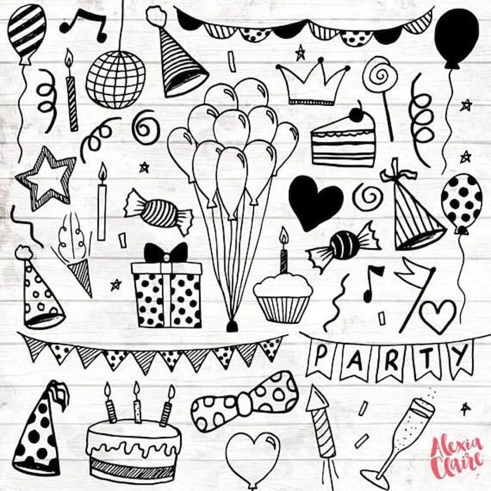 idees de dessin d anniversaire joli et