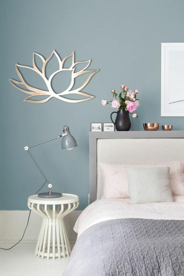 chambre grise et les couleurs