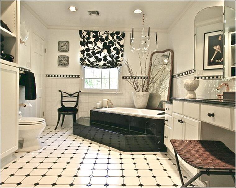 Bagno bianco e nero  design e tendenze per uno spazio