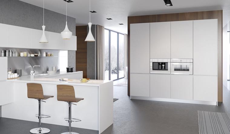 Cucine bianche abbinamento perfetto con lo stile moderno  Archzineit