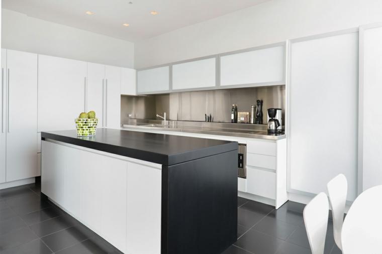 Cucine moderne bianche e nere  10 idee in piu per arredare la cucina