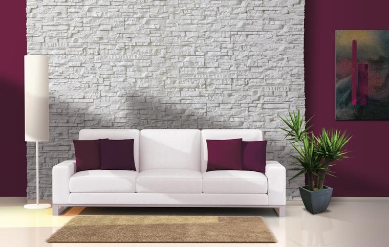 rivestimenti e decorazioni per pareti : Rivestimenti In Pietra In Soggiorno Moderno Idee Di Design E Stile