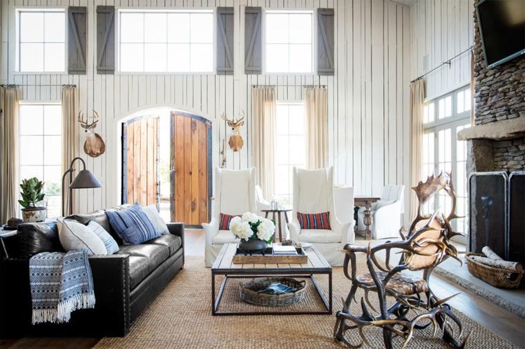 Soggiorno Rustico Country - Idee per interni per la casa, il ...