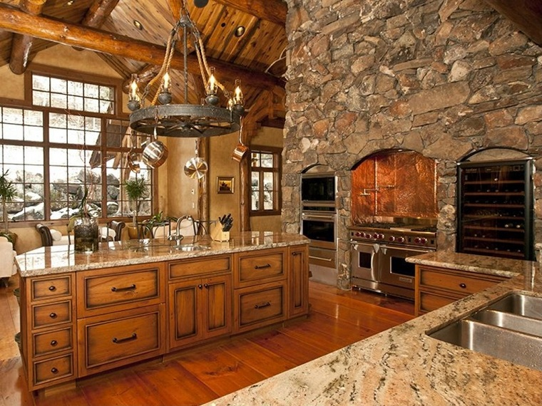 Cucine in muratura rustiche idee per la casa in campagna  Archzineit