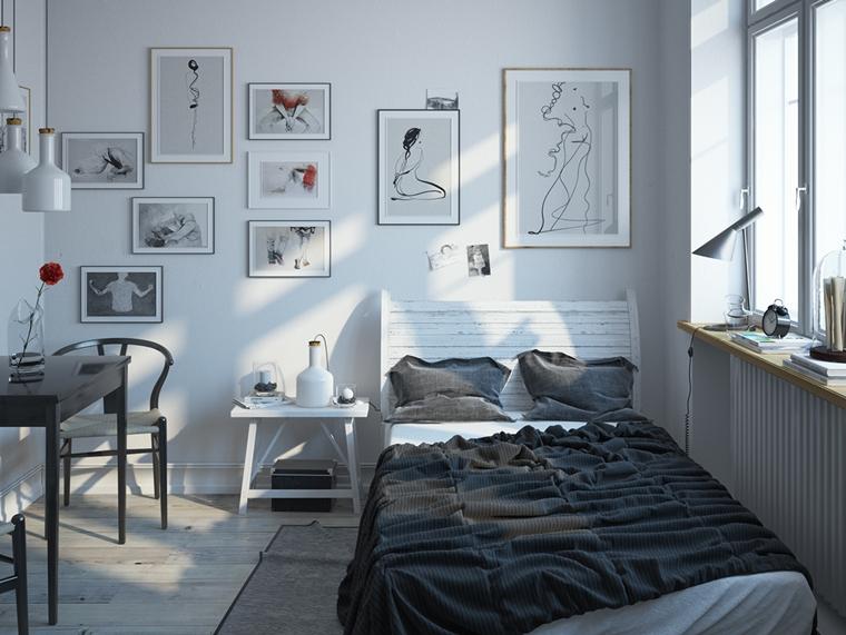 Arredare la camera da letto di design speciale in stili