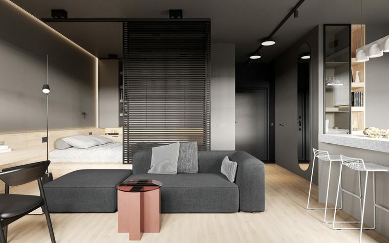 Con sapienza la cucina open space con il soggiorno, mettendoci un pizzico di colorata allegria. 1001 Idee Per Come Arredare Un Monolocale Piccolo